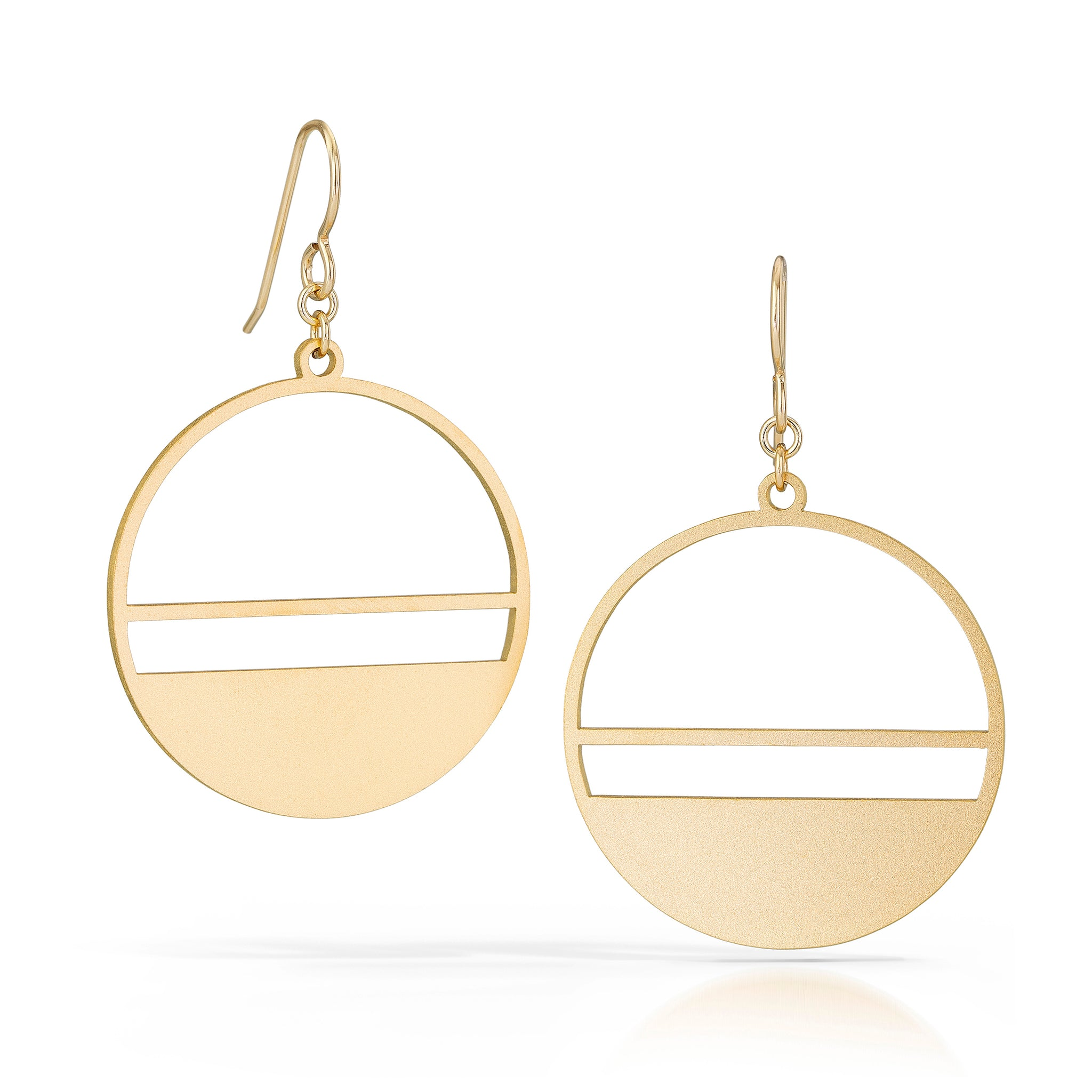horizon earrings, 18k gold-plated