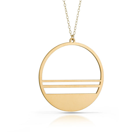 horizon necklace, 18k gold-plated