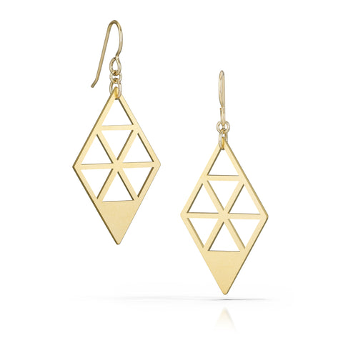tessellate earrings, 18k gold-plated