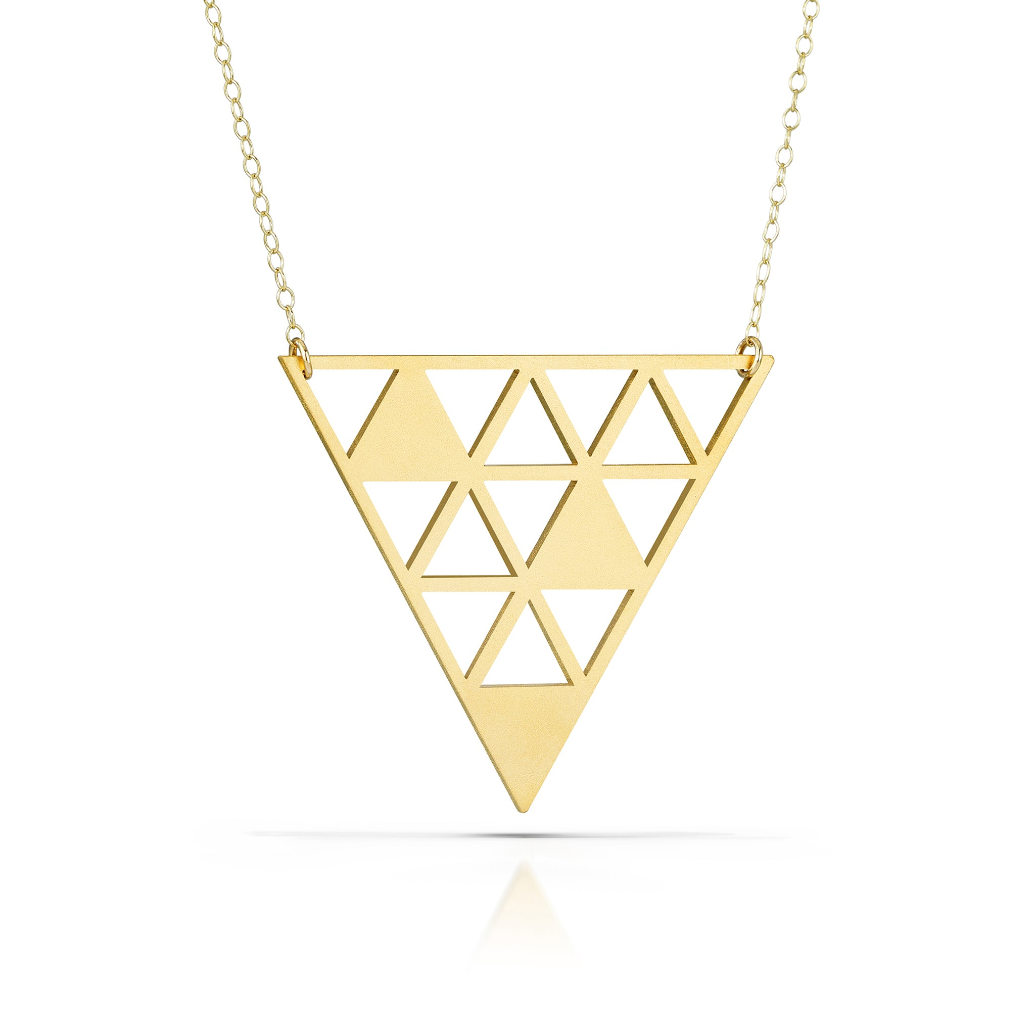 tessellate necklace, 18k gold-plated