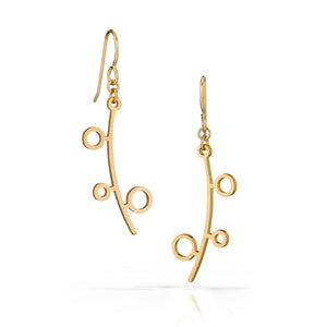 verde earrings, 18k gold-plated