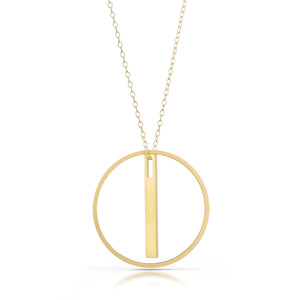 equilibrio necklace, 18k gold-plated