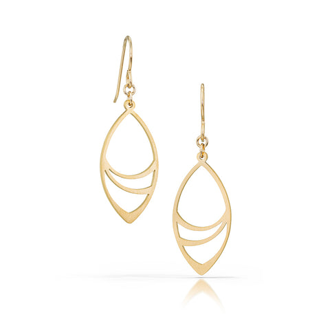 leafwrap earrings, 18k gold-plated