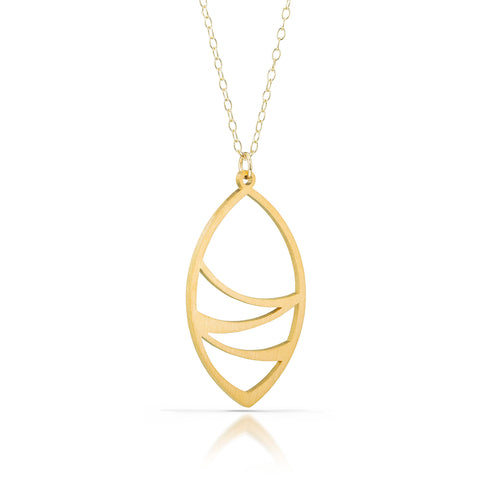 leafwrap necklace, 18k gold-plated