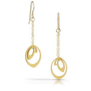 nesting bud earrings, 18k gold-plated