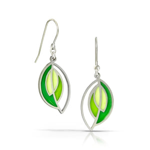 open leaf earrings