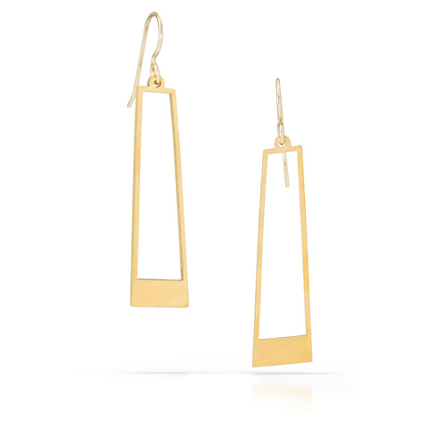trapezio earrings, 18k gold-plated