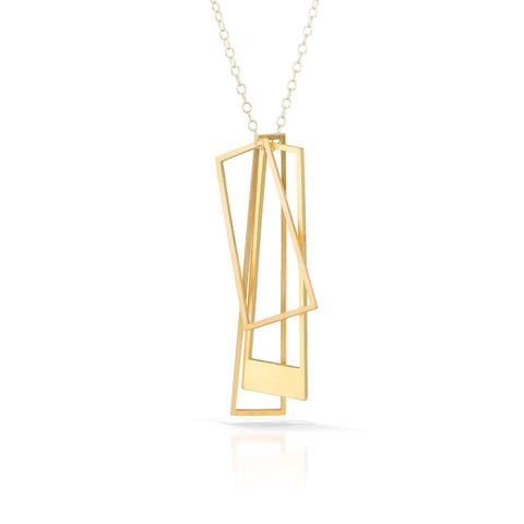 trapezio necklace, 18k gold-plated