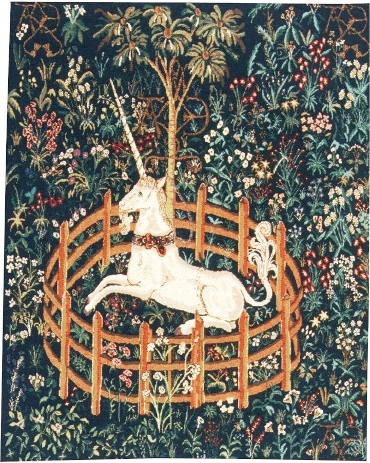 Unicornio en Cautiverio, 176 x 135 cm.