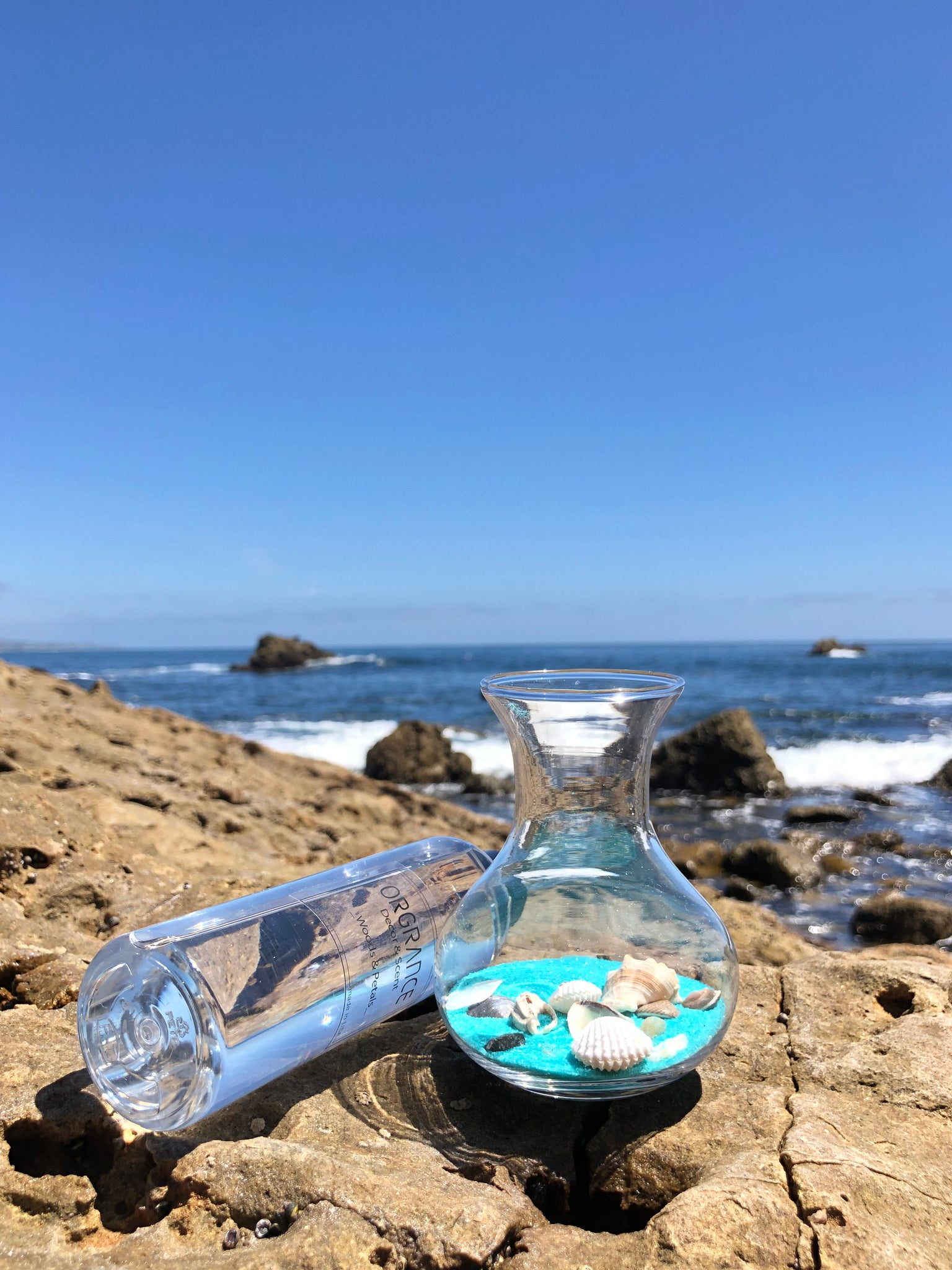 Orgrance Malibu Beach In Diffuser Turquoise Sand Pebble And Shell