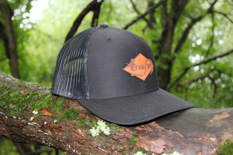 USF Logo Hat Black Trucker