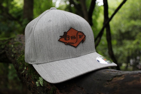 USF Logo Heather Grey Fitted Hat