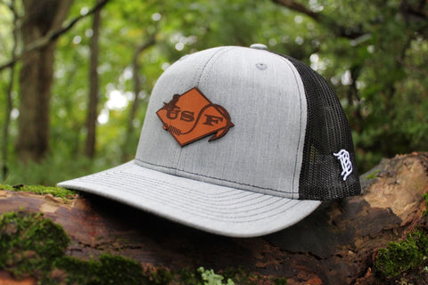USF Logo Hat Heather Grey Trucker