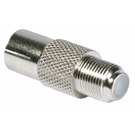 F Socket To Coax Socket – Nickel