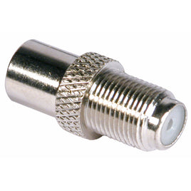 F Socket To Coax Plug – Nickel