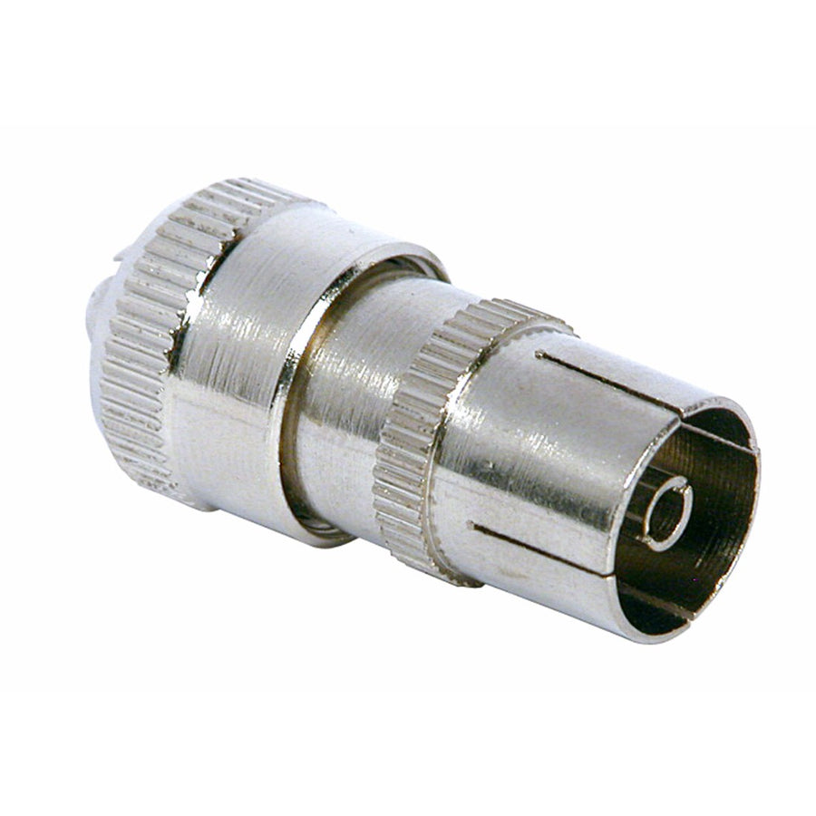 Coax Socket – Nickel Plated