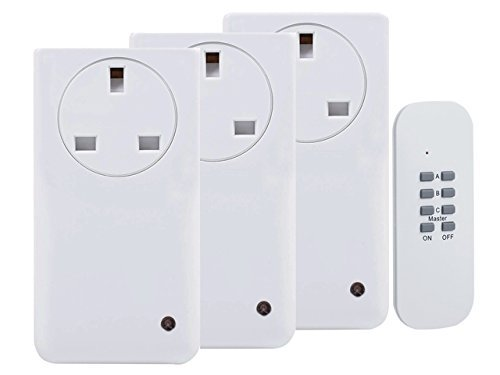 Remote control 3 pack of sockets -Max 1000W