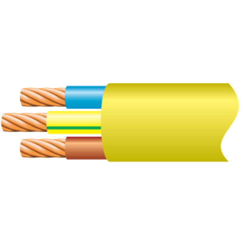 1.5mm 3Core Arctic Flex Yellow