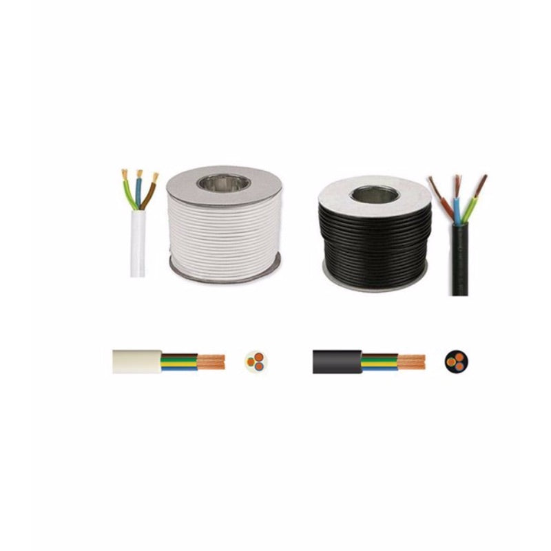 0.75mm� Round Mains Cable 3183Y 3-Core 6A Black 5m