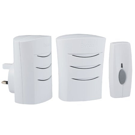 60m Wireless Portable and Plug-In Door Chime Kit with 4 Sounds