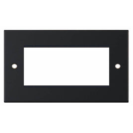 Euro Media/Data Plate – Matt Black 4 Aperture