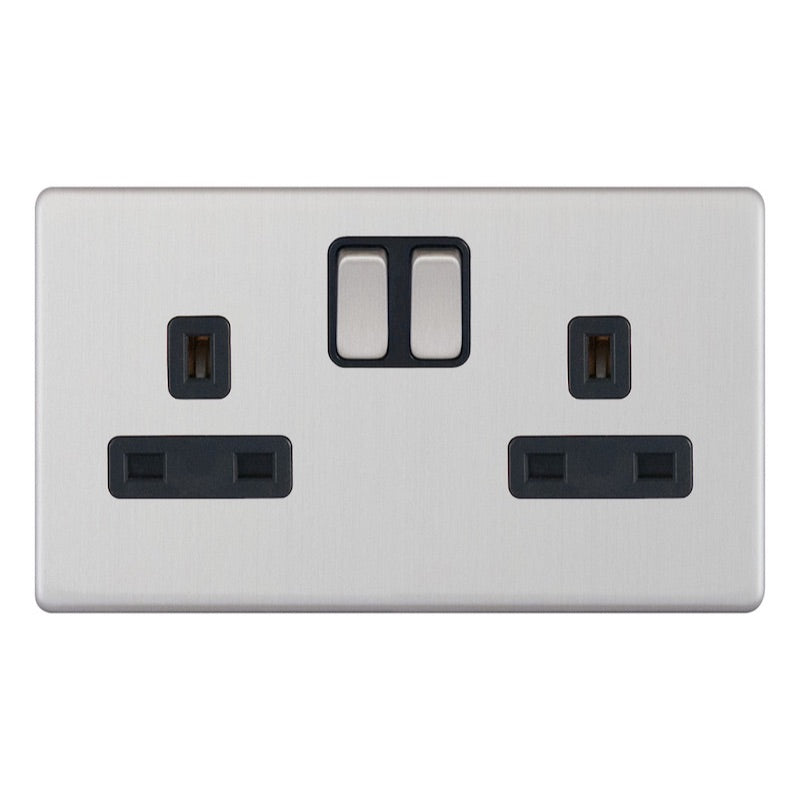 2 Gang Switched DP - 13 Amp Socket Outlets 5M-Plus