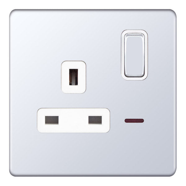1 Gang Switched DP with Neon - 13 Amp Socket Outlets 5M-Plus