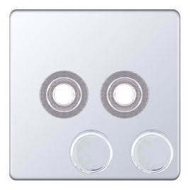 2 Aperture Empty Dimmer Plate with Knob 5M-PLUS