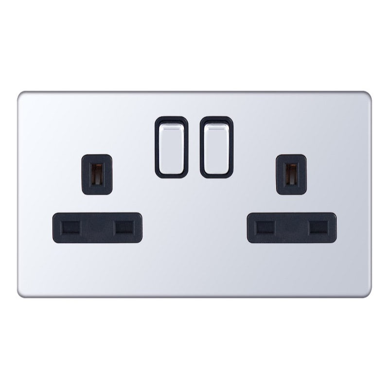 2 Gang Switched DP with 2 earth terminals -13 Amp Socket Outlets 5M-Plus
