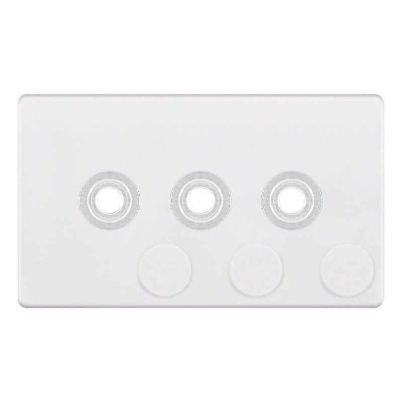 3 Aperture - Empty Dimmer Plate with Knob 5M-PLUS