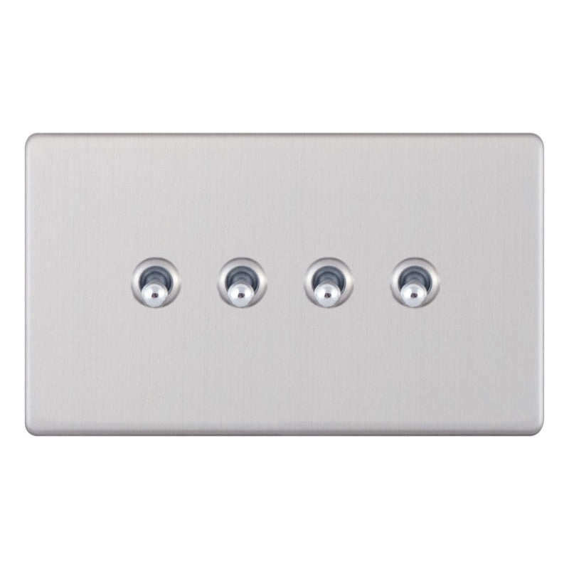 4 Gang 2 Way Toggle - 5M-Plus 10 Amp Switch