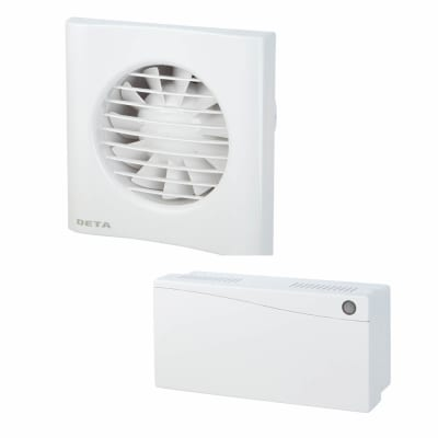 4 inch 12V Low Voltage fan with Timer with Humidistat