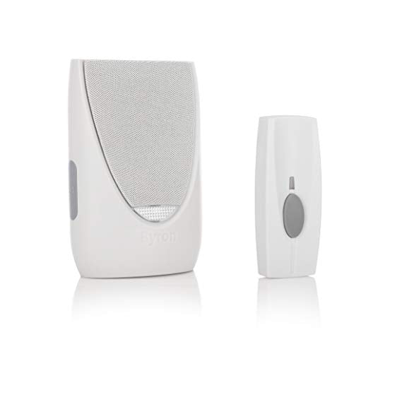 100m Wireless Plug-In Door Chime Kit with Flashing Light and 6 Sounds