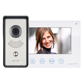 Colour Video Door Entry System White Monitor