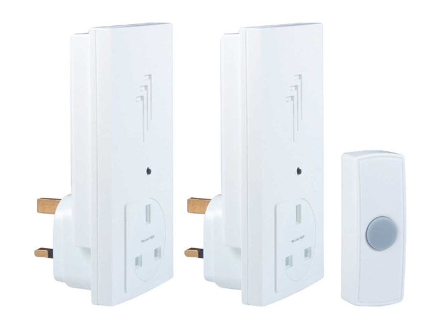 30m Wireless Plug-Through Door Chime Twinpack