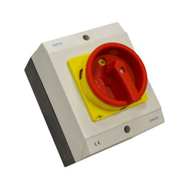 AC Isolator 4 Pole 20A Enclosed