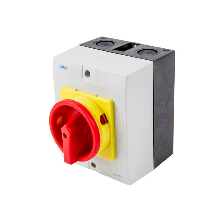 AC Isolator 4 Pole 32A Enclosed