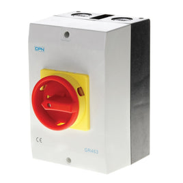 AC Isolator 4 Pole 63A Enclosed