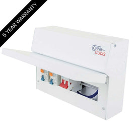 8 Way Lumo Metal Split Load Consumer Unit 100A Main Switch + 2 x 63A 30mA RCD