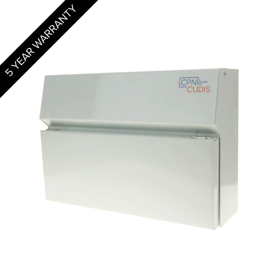 MCU14 14 Way Lumo Metal Consumer Unit with Busbar without Incomer White