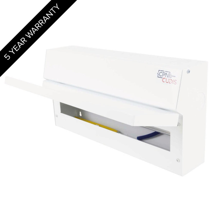 16 Way Lumo Metal Split Load Consumer Unit 100A Main Switch + 2 x 80A 30mA RCD