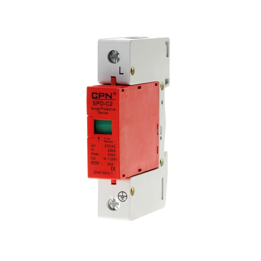 1 Pole Class 2 Surge Protection Device – For TN-C-S Earthing Arrangement
