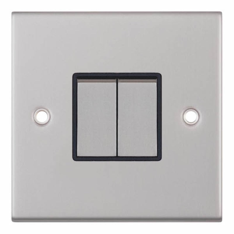 2 Gang 2 Way - X-Rated 10 Amp 5M Plate Switches