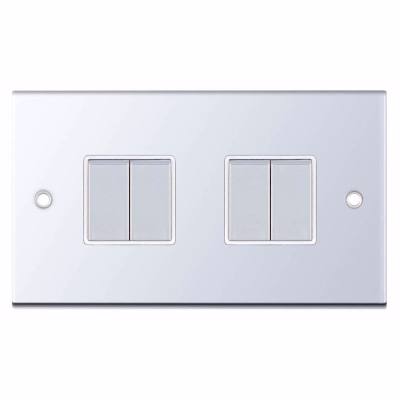 4 Gang 2 Way - X-Rated 10 Amp 5M Plate Switches