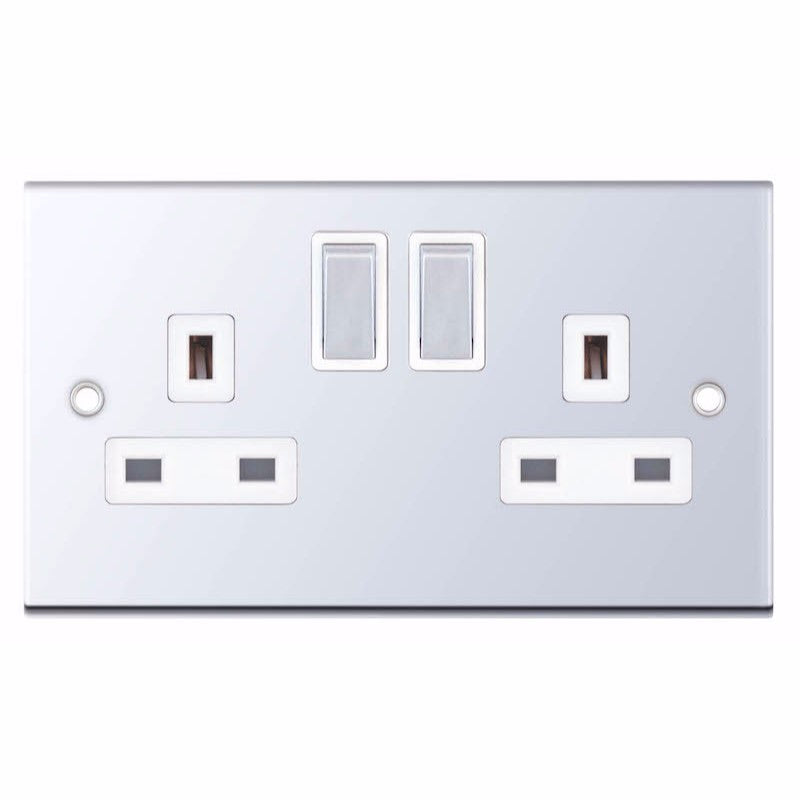 2 Gang Switched DP with 2 Earth Terminals 13 Amp 5M Socket Outlet
