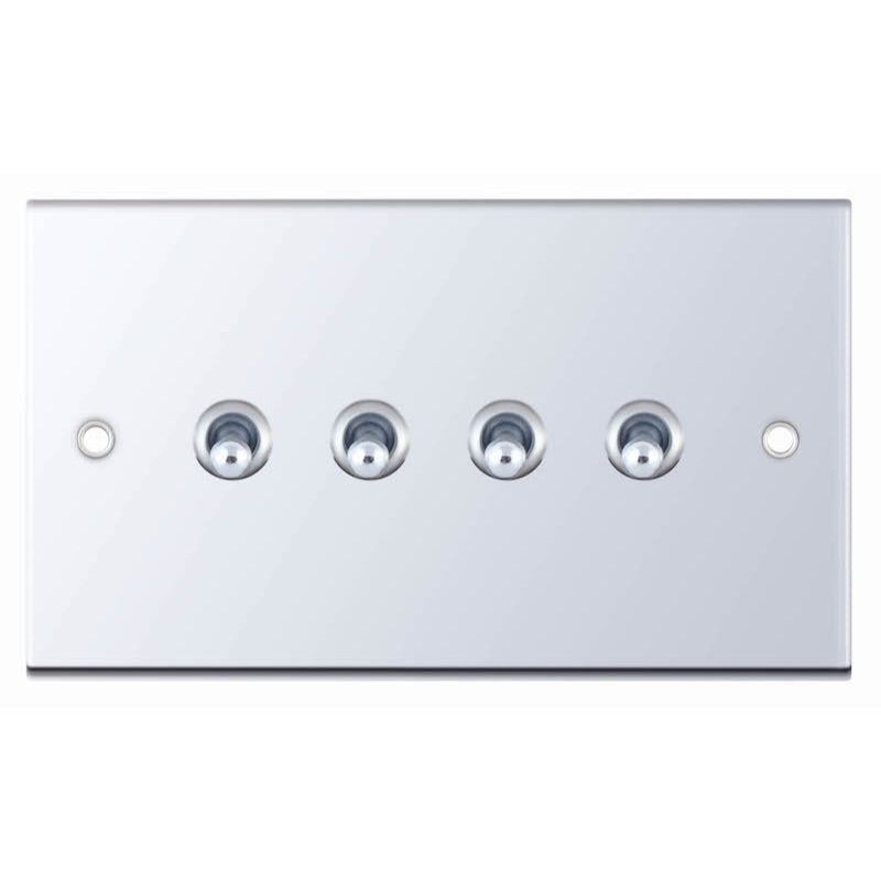 4 Gang 2 Way Toggle - 5M 10 Amp Switch