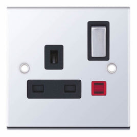 1 Gang Switched DP with Neon 13 Amp 5M Socket Outlet