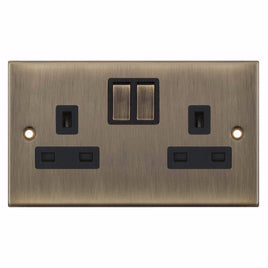 2 Gang Switched SP 13 Amp 5M Socket Outlet