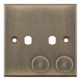 2 Aperture Empty Dimmer Plate with Knob - 5M