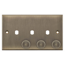 3 Aperture - Empty Dimmer Plate with Knob - 5M